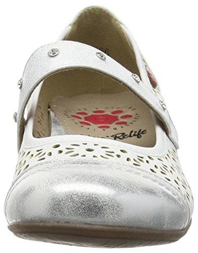 Blanc Ballerines Femme Klaudia Klaudia Lotus Blanc Ballerines Klaudia Femme Lotus Lotus Bg18wwXq