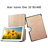 Acer Iconia One 10 B3 A40 Case,Acer Iconia One 10 B3-A40 Tablet Hard Case,Ultra Slim Light Weight Cover for Acer Iconia One 10 B3-A40 Shell with Stand Features,Gold