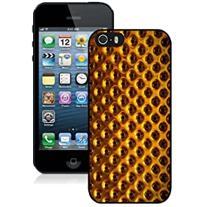 New Fashion Custom Designed Skin Case For iPhone 5s With Golden Holes Phone Case Cover