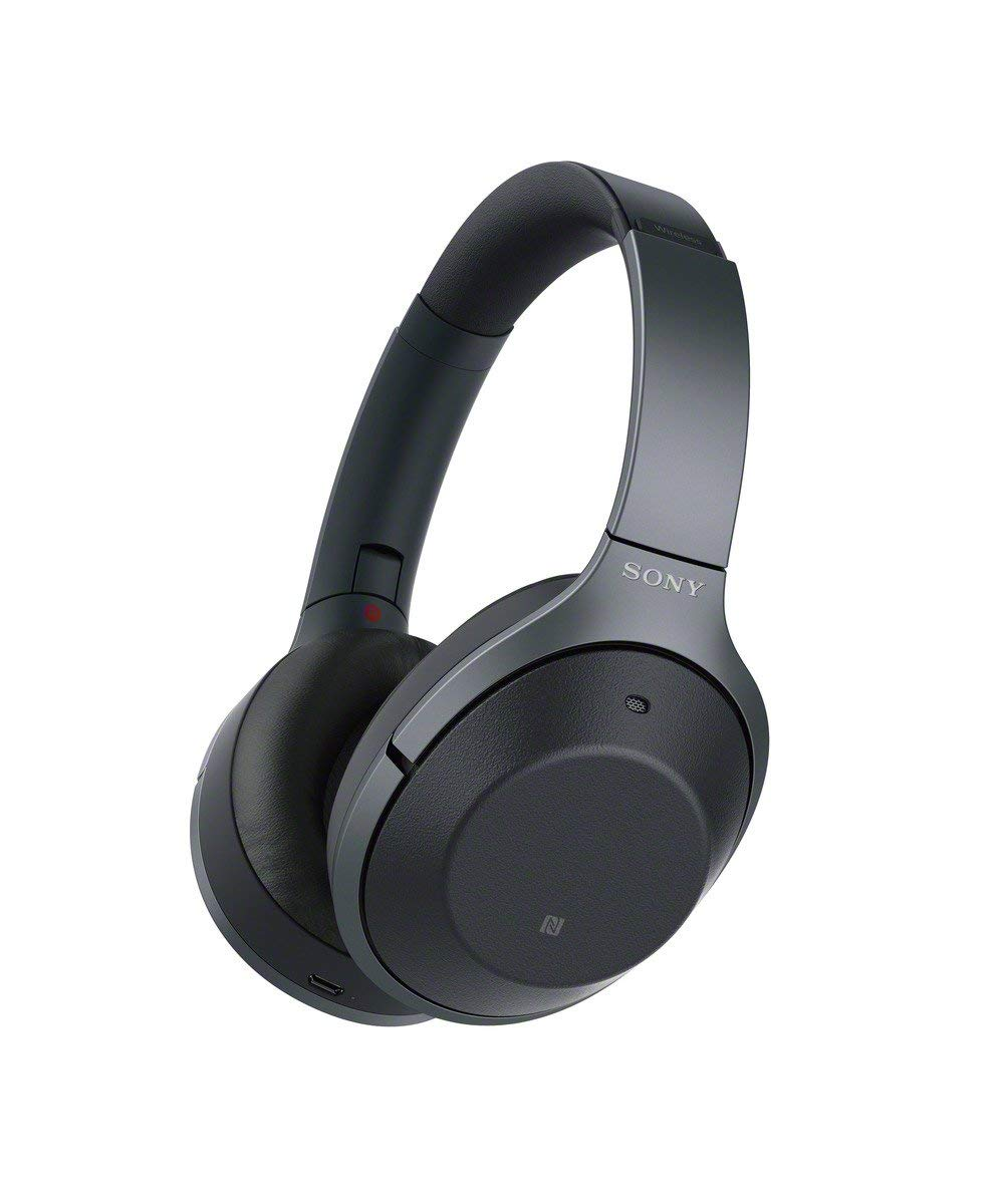 Sony WH-1000XM2 Wireless Bluetooth Over-Ear Noise Cancelling High Resolution Headphones with Gesture Control, Activity Recognition, 30 Hours Battery Life, with Alexa built-in - Black