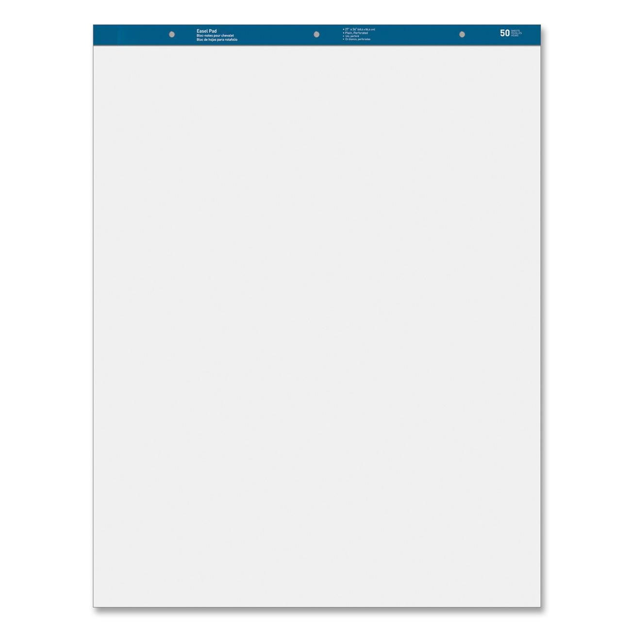MyOfficeInnovations 3254409 Standard Easel Pads Plain 27''x34'' 50 Sheets 2/CT White