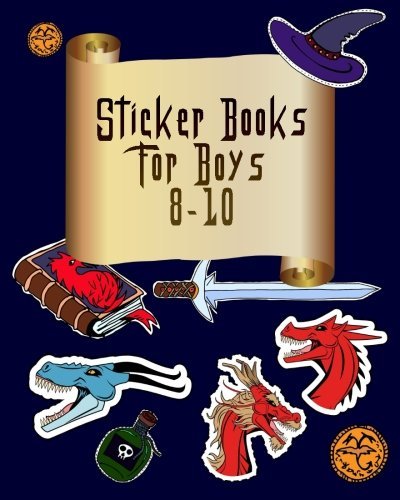 Sticker Books For Boys 8-10: Blank Sticker Book, 8 x 10, 64 Pages