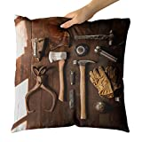 Westlake Art - Tool Organization - Decorative Throw Pillow Cushion - Picture Photography Artwork Home Decor Living Room - 16x16 Inch