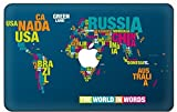 Customized Map Of The World Special Design Removable Vinyl Decal Top Front-cover Sticker Skin for New Macbook 12 Inch with Retina Display (Model A1534)