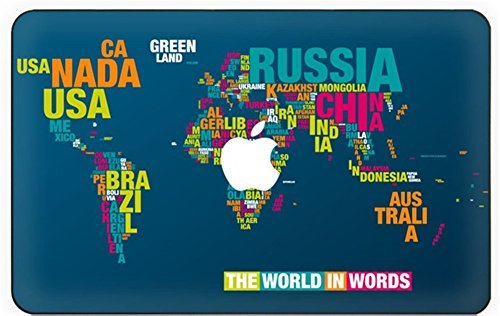 Customized Map Of The World Special Design Water Resistant Hard Case for Macbook Air 13
