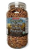 (US) Hanover Organic Ancient Grains Spelt Pretzels, 28 Oz. Barrel by Hanover