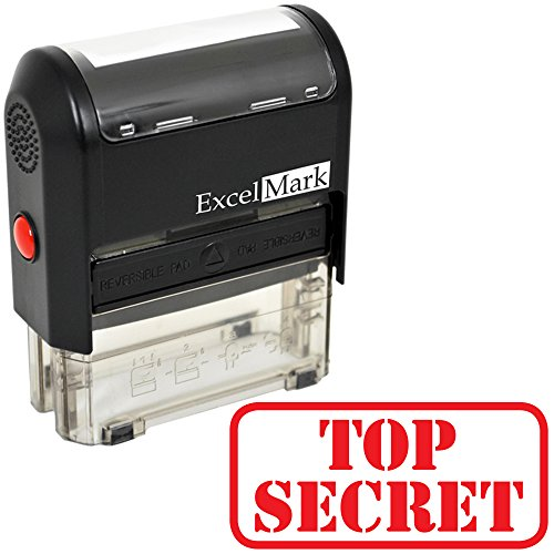 TOP Secret Self Inking Rubber Stamp - Red Ink (ExcelMark A1539) (Stamp Only)