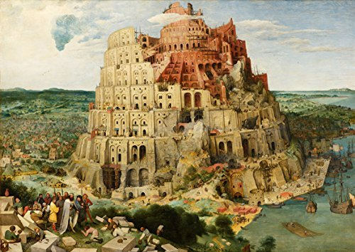 Pieter Bruegel the Elder: The Tower of Babel. Biblical Fine Art Print/Poster. Size A3 (42cm x (Tower Of Babel Craft)