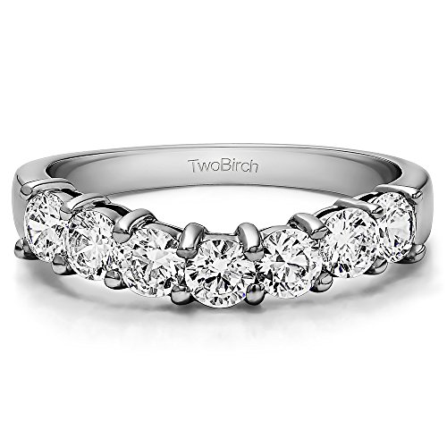Cubic Zirconia Classic Style Wedding Ring In Sterling Silver(0.5Ct) Size 3 To 15 in 1/4 Size Interval by TwoBirch