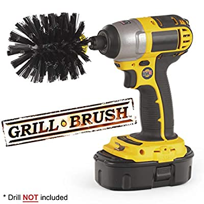 BBQ Grill Accessories - The Grill Brush - Grill Cleaner - Barbeque Grill - Charcoal Grill - Charbroil Grill - Electric Smoker - Smokers and Grills - Grill Scraper - Grill Cleaner - BBQ Tools by Drillbrush