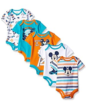 Disney Baby Boys Mickey 5 Pack Bodysuits