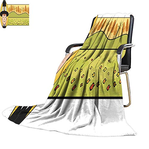 Bed Throw blanketthrow Blanket for bedCartoon Thanksgiving Pilgrim Boy Graphic 52