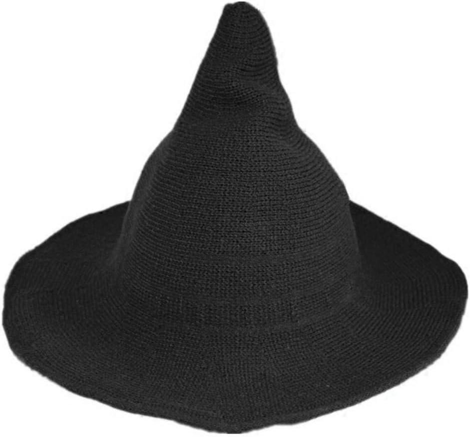 Busirde Le Donne Strega Moderna Cappello Pieghevole Costume Sharp Lana a Punta in Feltro di Halloween Caldo Inverno cap Autunno Nero