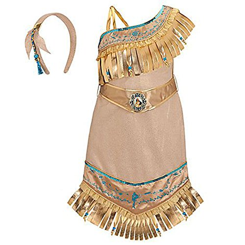 Toddler Pocahontas Costumes (Disney Store Princess Pocahontas Costume for Girls Size Small 5/6)