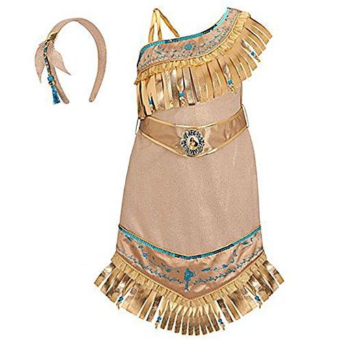 Disney Store Princess Pocahontas Costume for Girls Size Small 5/6 (Pocahontas Dress Up)