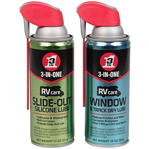 3-IN-ONE RVcare Slide Out Silicone, 11 oz. And RV Care Window & Track Dry Lube