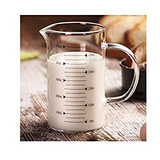 Glass Measuring Cups Use for Milk Frothing Jug Milk Pitcher Making Coffee ml Measuring Cup Juice Cup 500ml 17.6 fl.oz