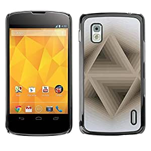 For LG Google NEXUS 4 / Mako / E960 Case , 3D Abstract Beige White Pattern - Diseño Patrón Teléfono Caso Cubierta Case Bumper Duro Protección Case Cover Funda