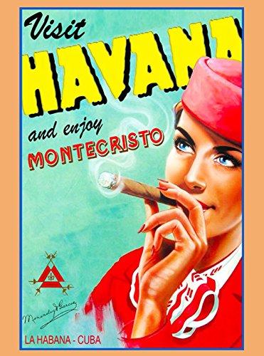 MAGNET Cuba Cuban Havana Habana Caribbean Cigar Cigars Travel Advertisement Magnet
