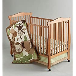 4-piece Monkey Safari Baby Crib Bedding Set By Nojo unisex
