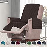 RHF Reversible Chair Cover, Chair Cover, Chair Cover for Dogs, Pet Cover for Chair, Chair Slipcover, Chair Protector, Machine Washable, Double Diamond Quilted(Recliner Chair:Chocolate/Beige)