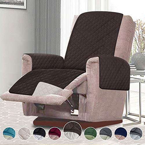 RHF Reversible Oversized Recliner Cover & Oversized Recliner Covers,Slipcovers for Recliner, Oversized Chair Covers,Pet Cover for Recliner,Machine Washable(XRecliner:Oversized:Chocolate/Beige)