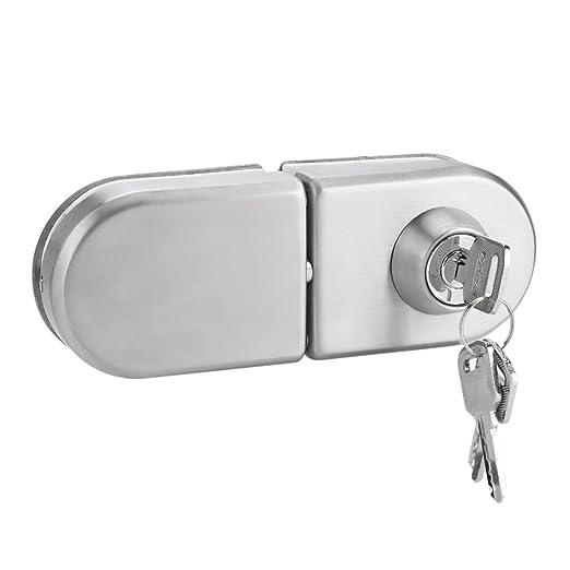 Garsent Cerradura de Puerta de 10~12 mm, Cerradura de Seguridad de ...