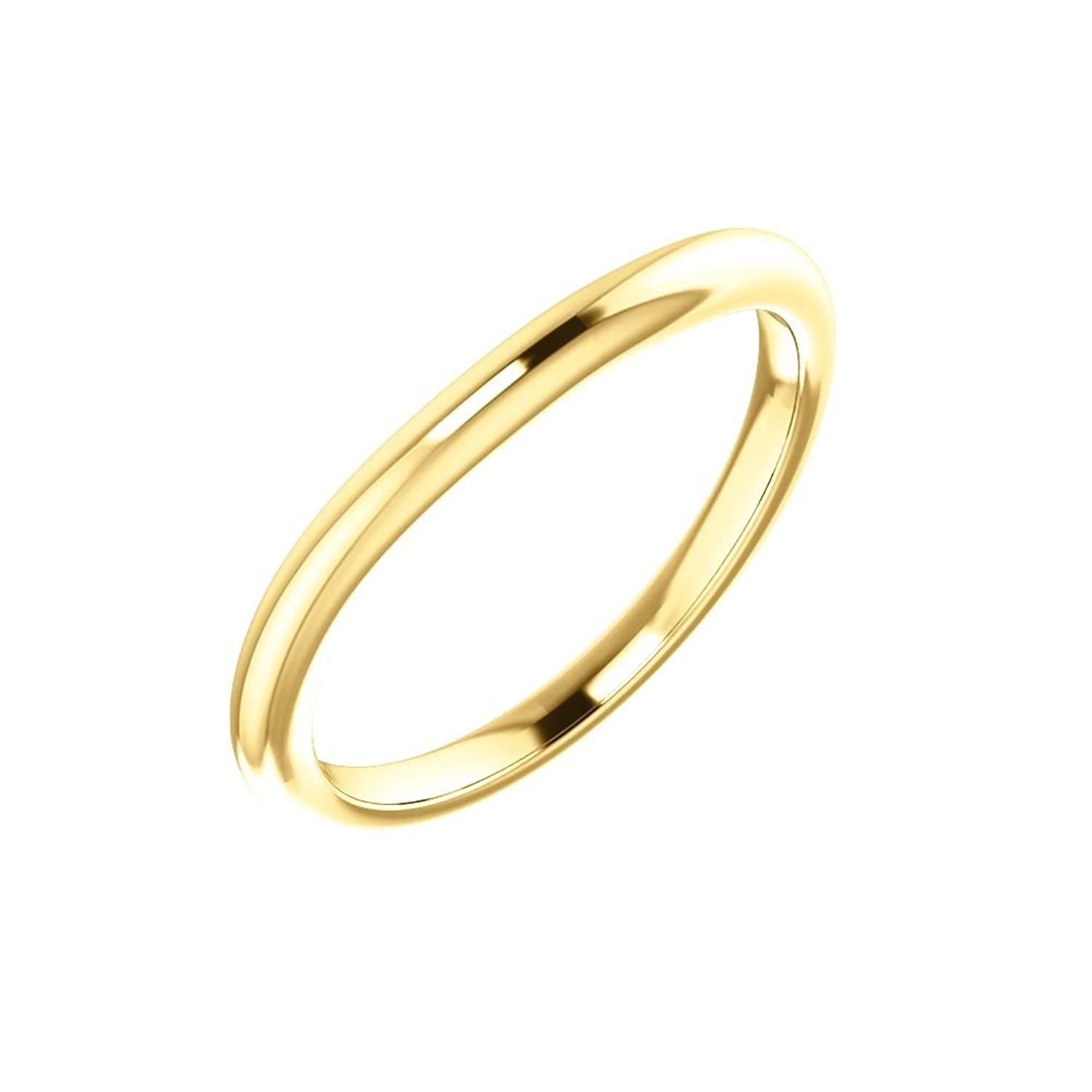 STU001- 10K Yellow Band for 4mm Square Ring