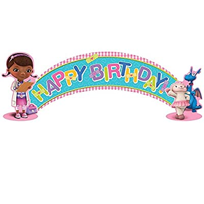 Doc McStuffins Party Kit Including Centerpiece and Banner: Toys & Games