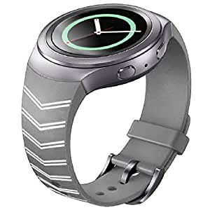 Amison Fashion correa de silicona reloj banda para Samsung Galaxy Gear S2 SM-R720, 0.05 pounds, color gris