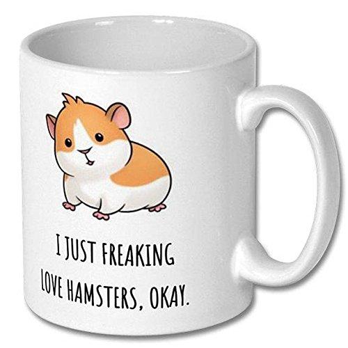 Funny Coffee Mug, Hamster Cute Mug,Hamster Gift Cup, High Gloss Coffee Mug 11oz