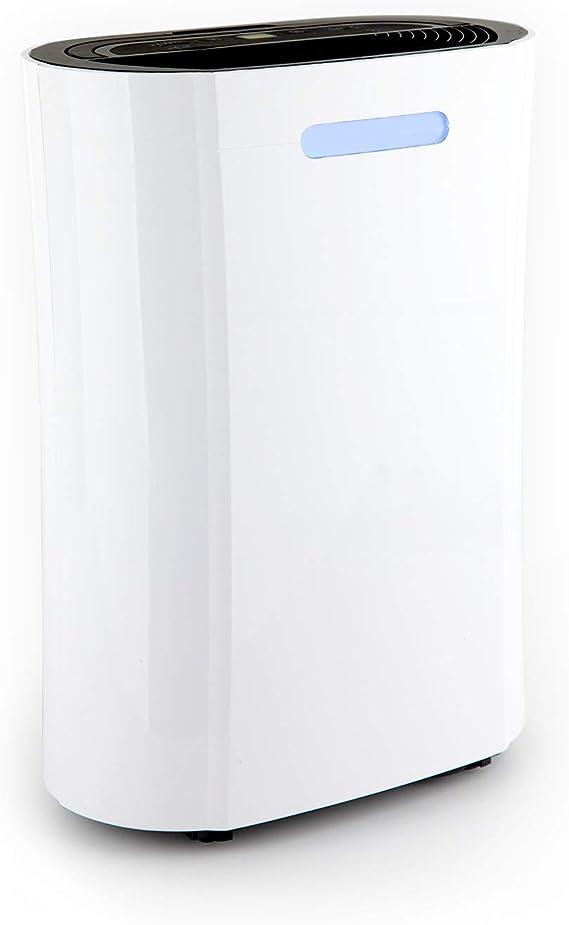 Klarstein AeroDry 10 deshumidificador - Purificador de Aire, Extractor de Humedad, 265 W, 10 l/día, 135 m³/h, para Salas de 25 m², Programable, DrySelect, Solo 37 dB ...