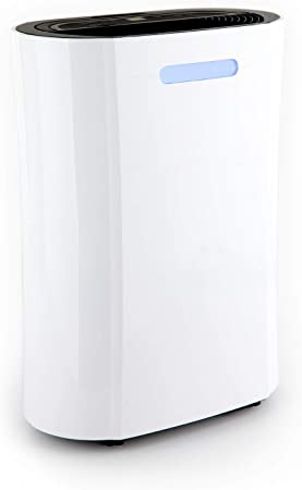 Klarstein AeroDry 10 deshumidificador - Purificador de Aire, Extractor de Humedad, 265 W, 10 l/día, 135 m³/h, para Salas de 25 m², Programable, DrySelect, Solo 37 dB, Temporizador, Blanco: Amazon.es: Hogar