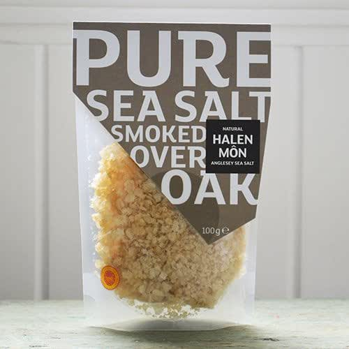 Halen Mon Anglesey Sea Salt DOP Smoked Over Welsh Oak (100 gram)