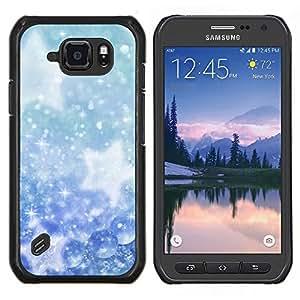 """Be-Star Único Patrón Plástico Duro Fundas Cover Cubre Hard Case Cover Para Samsung Galaxy S6 active / SM-G890 (NOT S6) ( Invierno Copos de nieve Estrellas"""" )"""