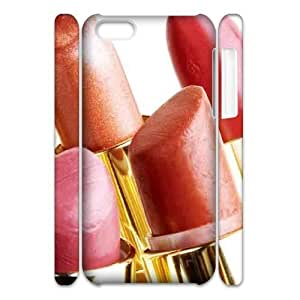 Lipstick Brand New 3D Cover Case for Iphone 5C,diy case cover ygtg555859