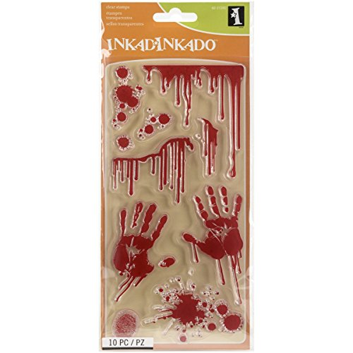 Inkadinkado 60-31295 Bloody Scene Clear Stamp Set, Black -