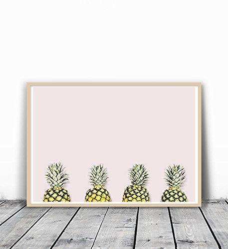 Pineapples, Tropical Art Print, Pineapple Print, Minimalist Art, Beach Print, Modern Tropical Decor, Minimalist Art Print, Modern Art, Pineapple Wall Art, Pineapple Photography, Fruit Wall Art, - Pineapple Minimalist