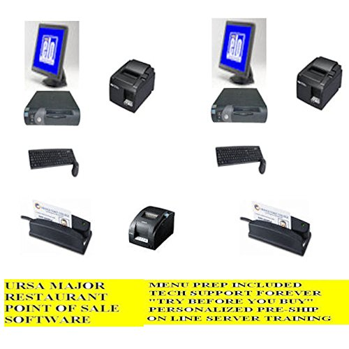 Price comparison product image 2 Station Terminal Restaurant point of sale POS System w / FREE Menu Install,  3 Year Warranty and Lifetime Tech Support --- No Extra or Monthly Charges