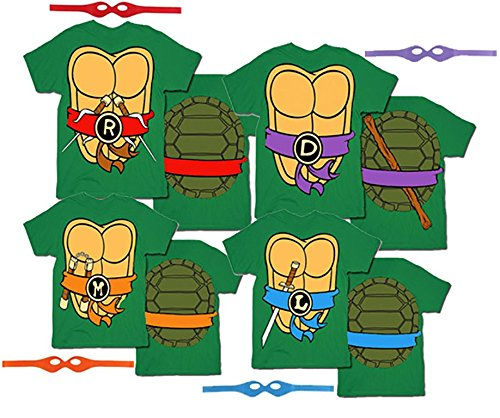 Teenage Mutant Ninja Turtles Men's T-shirt with Eye Mask
