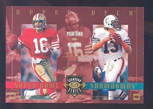 2003 Upper Deck Super Bowl Showdowns Lite/Tombstone #5 Joe Montana Dan Marino - Mint Condition ()