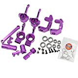 Hobbypark RC Aluminum Front Hub Carrier Steering Knuckles Servo Saver Complete 102210 102211 102212 102057 102040 For Redcat 1/10 RC Car Upgrade Parts Monster Truck Buggy Fit HSP