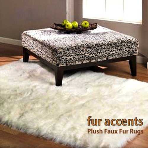 Fur Accents Faux Fur Accent Rug / Sheepskin Carpet / Polar
