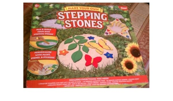 Amazon.com : Make Your Own Stepping Stones Kit : Outdoor Decorative Stones  : Garden U0026 Outdoor