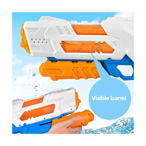 balnore Acqua Pistola Giocattolo con Lunga gittata per i Bambini Adulti Pistola Acqua 10-12 Metri di Distanza 1200ML… 2 spesavip
