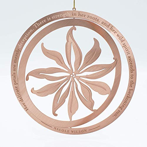 Lily Ornament with Inspiring Quote in Gift Box (For Christmas Ornaments Quotes)
