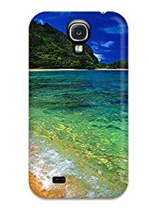 Anti-scratch And Shatterproof Tunnels Beach Phone Case For Galaxy S4/ High Quality Tpu Case
