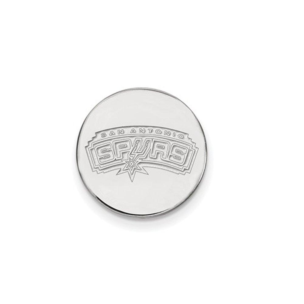 NBA San Antonio Spurs Lapel Pin in 14K White Gold