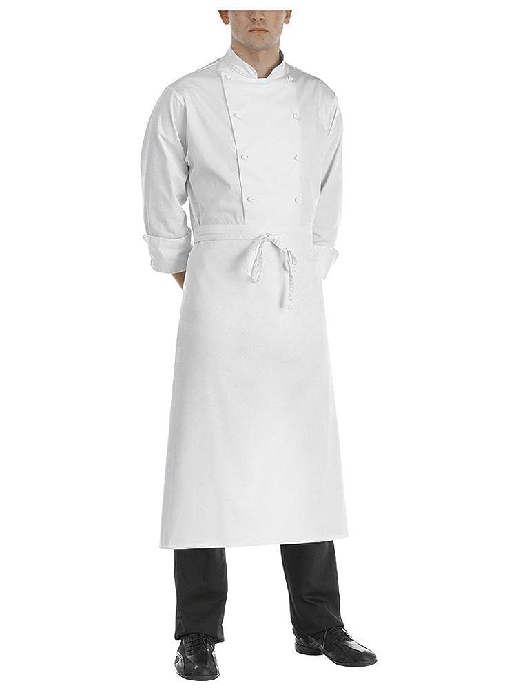 EGOCHEF Grembiule modello francese, Bianco, Parannanza, Falda Francese