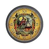 CafePress – Vintage Witch Clock – Unique Decorative 10″ Wall Clock